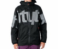 32 THIRTYTWO Lowdown Jacket Men Snowboard Ski 8k Waterproof Shell black XL