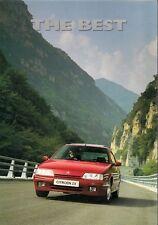 Citroen ZX 1992-93 UK Foldout Brochure Reflex Avantage Aura Volcane Furio 16v