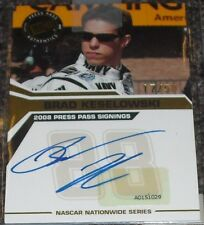 2012 NASCAR SPRINT CUP CHAMPION Brad Keselowski '08 PRESS PASS RC Auto 17/50