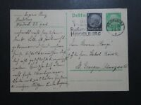 Germany 1935 Uprated Hindenburg Postal Card / Radium Slogan Cancel - Z10249