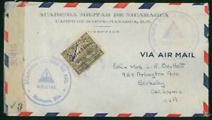 Mayfairstamps Nicaragua 1940s Official Censored to Berkeley CA Airmail Cover wwp