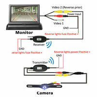 Wireless Backup Camera and Monitor Kit Rear View System Night Vision Waterproof