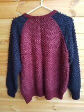 Ladies Blue & Burgundy Knitted Jumper Size 12 by Next