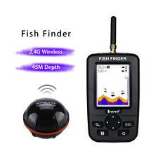 Smart Depth Fish Finder Wireless Sonar Sensor Sea Fishfinder White LED Backlight