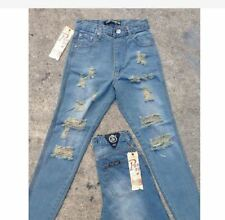 PUNNY BF JEANS SOFT DENIM RIPPED (MODERN BLUE) SIZE 27