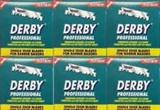 600 DERBY SINGLE EDGE PROFESSIONAL RAZOR BLADES - 6 PACKS (100 IN EACH PACK)😱😱