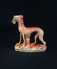 Staffordshire Figurine Greyhound Hunting Dog