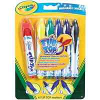 Crayola Flip Top Markers No Lost Lids Felt Tip Pens Washable Stationery Coloured
