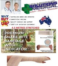 12 X Snake Bite Bandages With Compression Indicator 10cm Width X 4.5m Stretched