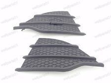 1Pair Satin Black Front Bumper Grille Covers Inserts For Ford Escape 2013-2016