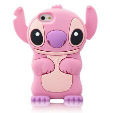 For IPhone 5 5S 5C SE 3D Lilo Stitch Soft Silicone Character Case Cover - Pk