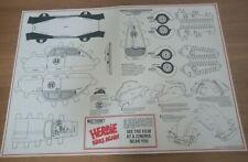 Walt Disney Herbie Rides Again 1974 - Cinema freebie - Cut out model in card