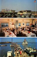 Atlantic City New Jersey 1960s Postcard Capt Starn's Restaurant Multiview