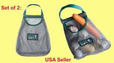 Set of 2: Reusable Hanging Storage Mesh Bag For Vegetable Garlic Potato Onion +