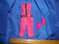 BARBIE OUTFIT PINK JUMPSUIT + SHOES CLOTHES  doll mattel