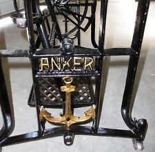 nähmaschinentisch näh maschine guss eisen alt gestell ANKER vintage deko tisch