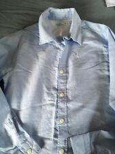 M&CO BOYS BLUE CHAMBRAY L/S SHIRT AGE 11- 12 Yrs Ex Con