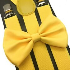 Suspender and Bow Tie Set for Adults Men Women Teens Kids Children (USA Seller)