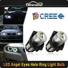 Error Free CREE 20W Total LED Angel Eyes Halo Ring Light Bulbs For BMW E90 USA