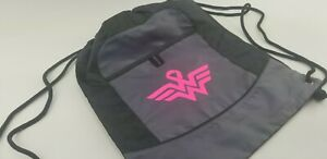 breast cancer bag drawstring backpack custom wonder woman style awareness run