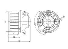 HVAC Blower Motor Front TYC 700175