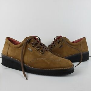 Salvatore Ferragamo Sport Brown Suede Leather Vibram Shoes Lace Up 9 B Italy