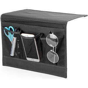 Bedside Caddy Storage Organizer Remote Control Holder Bag Pocket Couch Sofa