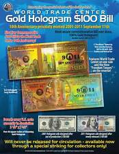 WORLD TRADE CENTER Anniversary FREEDOM TOWER Gold Hologram Tribute Certificate