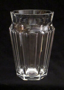 BACCARAT France NELLY VASE Cut Glass Crystal Discontinued MINT CONDITION Signed