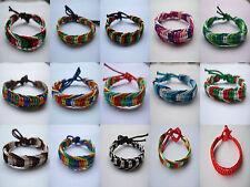 Friendship Bracelet Wristband Cotton Silk Reggae Jamaica Surfer Hippy Boho Surf