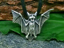 Small Bat Pendant 925 Sterling Silver Bat Vampire Gothic with Band