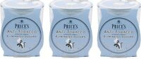 3x Price's Anti-Tobacco Candle in Jar - Eliminates Tobacco and Smoking Odour