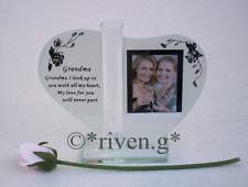 GRANDMA PICTURE FRAME PINK ROSE FLOWER Holder VASE@NANNA PHOTOGRAPH GRAN GIFT