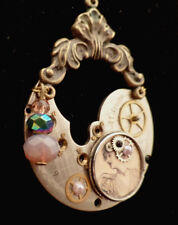 OOAK Steampunk Barcelona Maiden Pendant w/ chain, necklace (Handcrafted Jewelry)