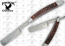 Brown Jigged Bone Handle Folding Shaving Straight Razor