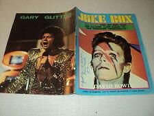 JUKE BOX 207 (7/73) DAVID BOWIE CLAUDE FRANCOIS ROXY MUSIC DAVID CASSIDY J CLERC