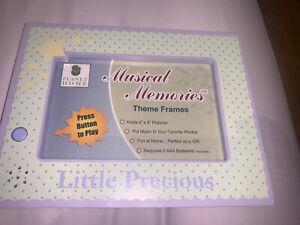 Little Precious Twinkle Little Star MUSICAL MEMORIES THEME 4x6 Pic FRAME Gift