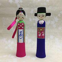 "Vintage Korean Traditional Hanbok Doll Figurine 9.5"" Tall"