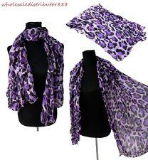 US SELLER animal print leopard cheetah Fashion Girl Lady Soft Long Scarf MR2