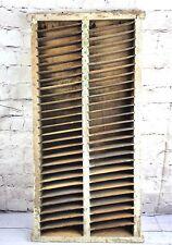 """Antique Primitive General Hardware Drug Store Wood Display Shelf Unit 29"""" tall"""