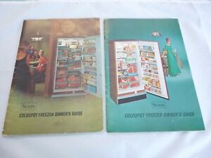 Vtg 1966 & 1967 Sears Coldspot Freezer Owners Guides Manuals Booklets