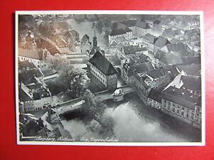 AK Ansichtskarte Postkarte, Bamberg, Rathaus, Fliegeraufnahme
