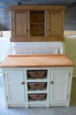 Solid Pine Shaker Kitchen Base Unit With Rustic Baskets Painted In Your Colour.