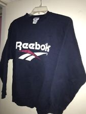 VTG Reebok 90's Mens L Crewneck  Sweatshirt Big Spell Out Logo