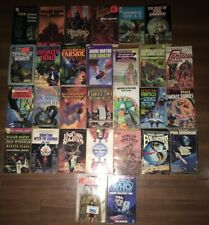 Lot Of 29 Vintage Science Fiction Paperback Novel Books