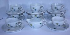 Faienceries Continentales Les Etoiles Franciscan Starbrust Cups Saucers Creamer