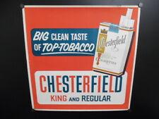 c.1950 Chesterfield Cigarettes Paper Sign Poster Liggett & Myers Tobacco Vintage