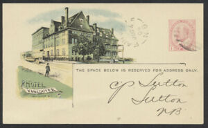 1904 Canada CPR View, #CPR 45B EdwardVII, Hotel Vancouver, Freight, Fairville NB