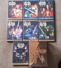 Star Wars 1,2,3,4,5,6  TRILOGY DVDS Complete Saga 9-Dvd FULL SCREEN