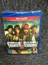 PIRATES OF THE CARIBBEAN ON STRANGER TIDES - BLU RAY - 3D & 2D . Mint Condition